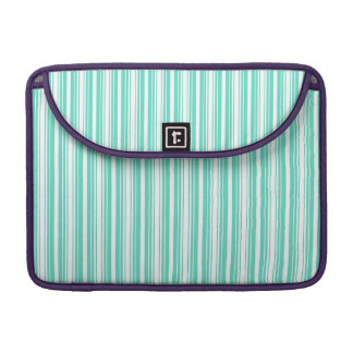 Deckchair Stripes in Tiffany Aqua Blue MacBook Pro Sleeves