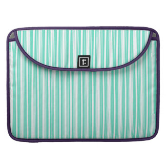 Deckchair Stripes in Tiffany Aqua Blue Sleeve For MacBook Pro