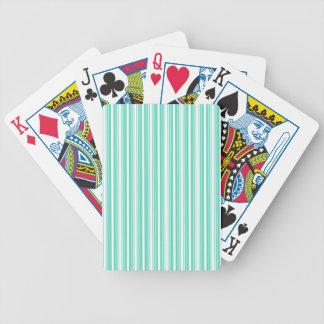 Deckchair Stripes in Tiffany Aqua Blue Bicycle Playing Cards