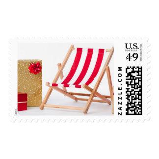 Deckchair y regalos de Navidad Sello Postal