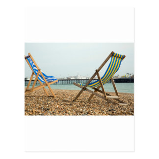 Deckchairs and shingle post cards