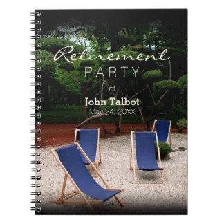 Deckchairs - libro de visitas personalizado del cuaderno