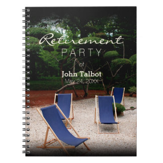 Deckchairs - Personalized Retirement Guest Book Notebook