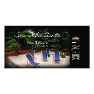 Deckchairs Personalized Retirement Save the Date Card