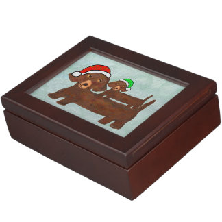 Decked out Dachshunds Memory Box