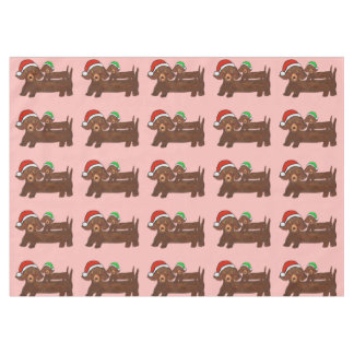 Decked Out Dachshunds Table Cloth Tablecloth