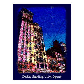 Decker Building Union Square Postcard