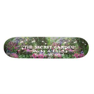 """Decks 4 Chicks---The Secret Garden"" Skateboard"