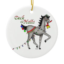 DecktheHalls Ceramic Ornament