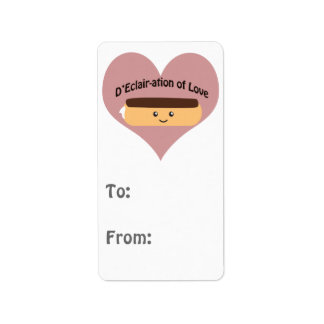 D'eclair-ation Of Love Address Label