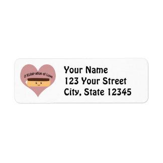D'eclair-ation Of Love Return Address Label