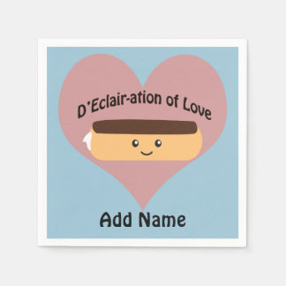 D'eclair-ation Of Love Paper Napkin