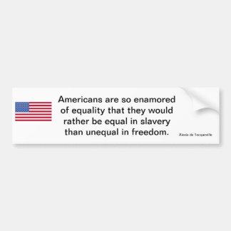 Declaración americana de la libertad pegatina de parachoque