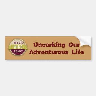 Declaración aventurera del parachoque de la vida pegatina para auto