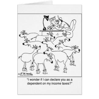 Declaración de cabras como dependientes tarjeta de felicitación