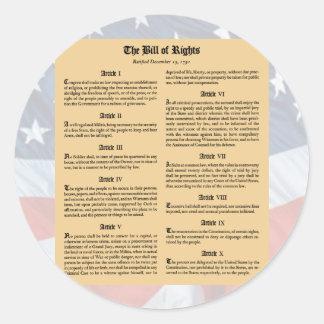 Declaración de Derechos de Estados Unidos Etiqueta