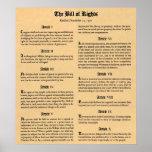 Declaración de Derechos de Estados Unidos primeras Impresiones
