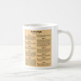 Declaración de Derechos de Estados Unidos Tazas De Café