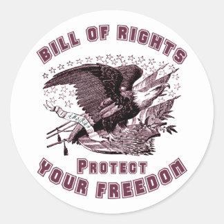 Declaración de Derechos Etiquetas Redondas