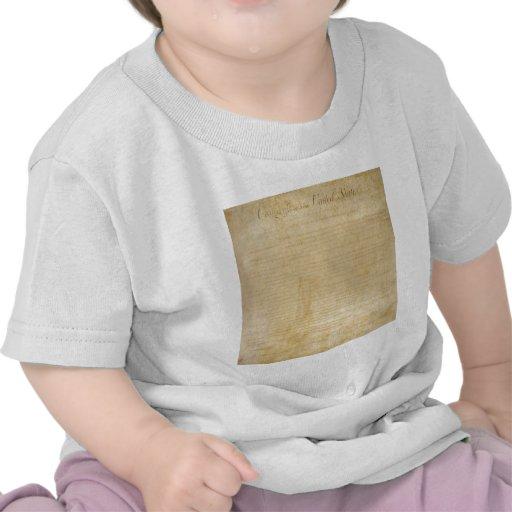 Declaración de Derechos original de la Camisetas