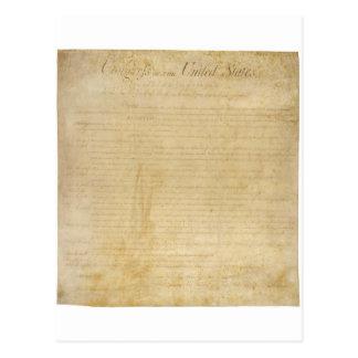 Declaración de Derechos original de la Tarjeta Postal
