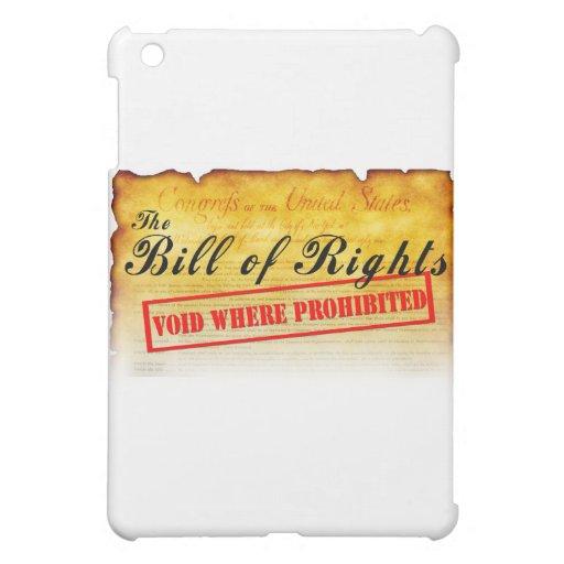 Declaración de Derechos - vacío donde prohibido