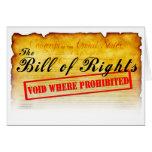 Declaración de Derechos - vacío donde prohibido Felicitacion