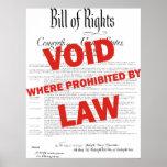 Declaración de Derechos - VACÍO Poster