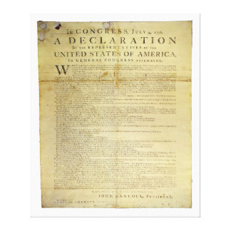 Declaración de Independencia 1774 del costado de Lona Envuelta Para Galerias