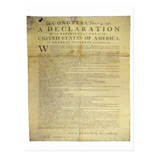 Declaración de Independencia 1774 del costado de Postales