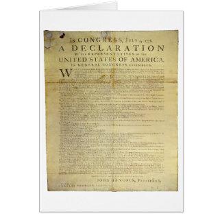 Declaración de Independencia 1774 del costado de Tarjeta De Felicitación
