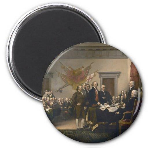 Declaración de Independencia - 1819 Imán Redondo 5 Cm