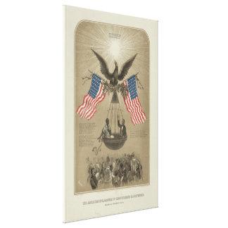 Declaración de Independencia americana ilustrada Lienzo Envuelto Para Galerias