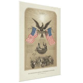 Declaración de Independencia americana ilustrada Impresiones En Lienzo Estiradas