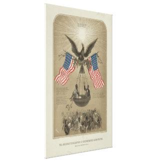 Declaración de Independencia americana ilustrada Impresion En Lona