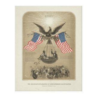 Declaración de Independencia americana ilustrada Lienzo Envuelto Para Galerías