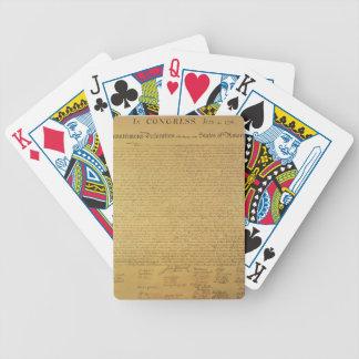 Declaración de Independencia Baraja Cartas De Poker