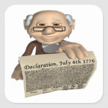 Declaración de Independencia Colcomanias Cuadradas