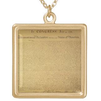 Declaración de Independencia Colgante Cuadrado