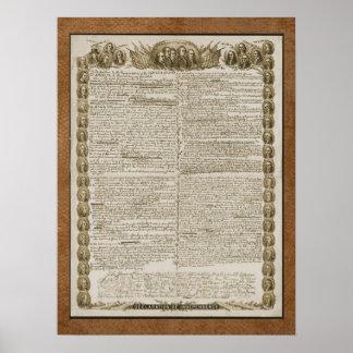 Declaración de Independencia con los fundadores Póster