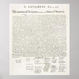 Declaración de Independencia de Estados Unidos Posters