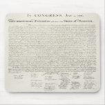 Declaración de Independencia de Estados Unidos Tapetes De Ratón