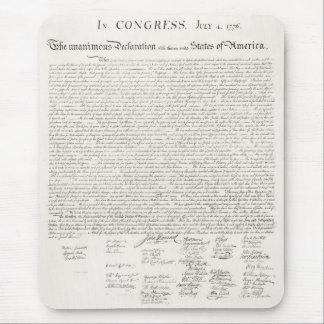 Declaración de Independencia de Estados Unidos Tapetes De Ratones