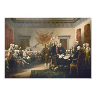 """Declaración de Independencia de Juan Trumbull 1819 Invitación 3.5"""" X 5"""""""