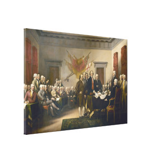Declaración de Independencia de Juan Trumbull 1819 Lienzo Envuelto Para Galerias