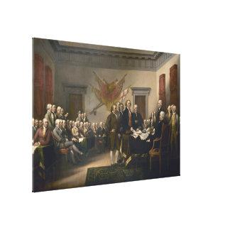 Declaración de Independencia de Juan Trumbull Impresiones En Lona Estiradas