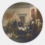 Declaración de Independencia de Juan Trumbull Pegatina Redonda