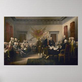 Declaración de Independencia de Juan Trumbull Póster