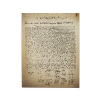 Declaración de Independencia del vintage Bloc De Papel