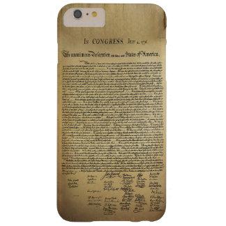 Declaración de Independencia del vintage Funda Barely There iPhone 6 Plus